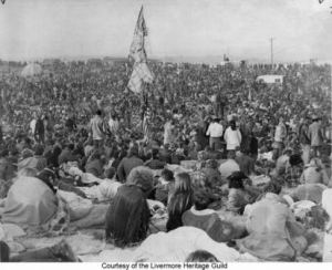 The Altamont Speedway with 300,000 hippies